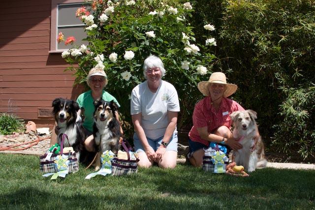 Taiko  (HIT Elite) & Annabelle (HIT Veteran) with Liza Buckner, Judge Karen Birdsong,  Rita  (HIT Open) with Geri Lu Jurey