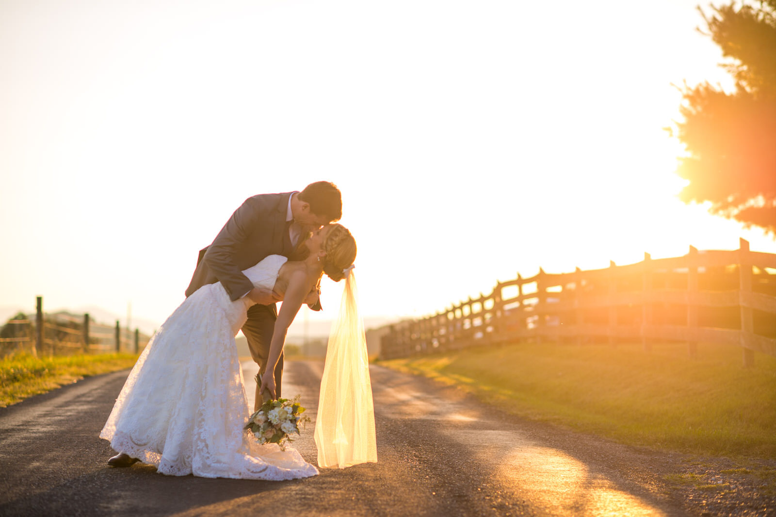 Beautiful Wedding in Harrisonburg with an Amazing Sunset