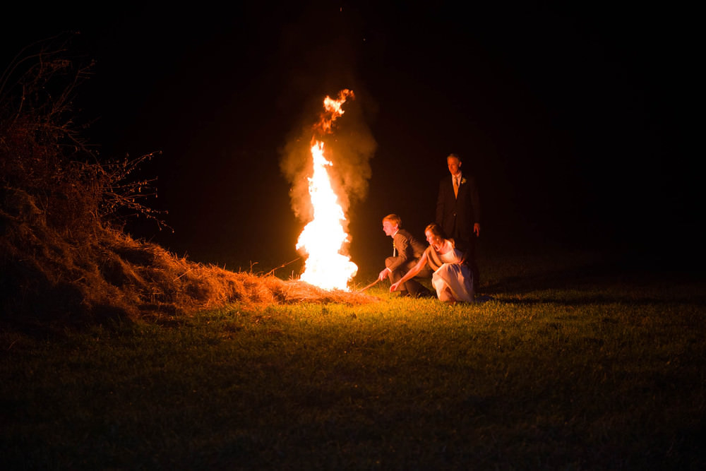 Wedding Bonfire in Harrisonburg