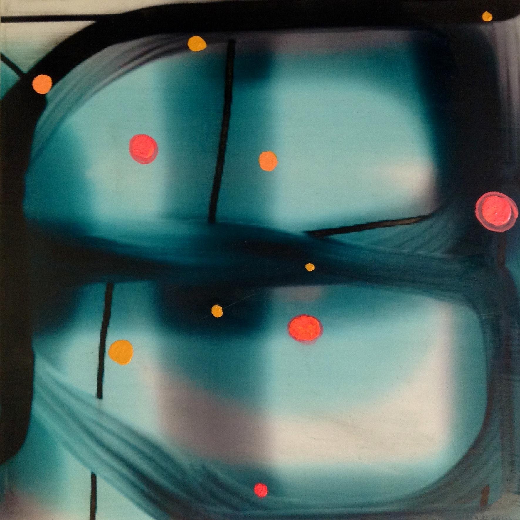 lunar  oil, digital print on panel 12 in. x 12 in.