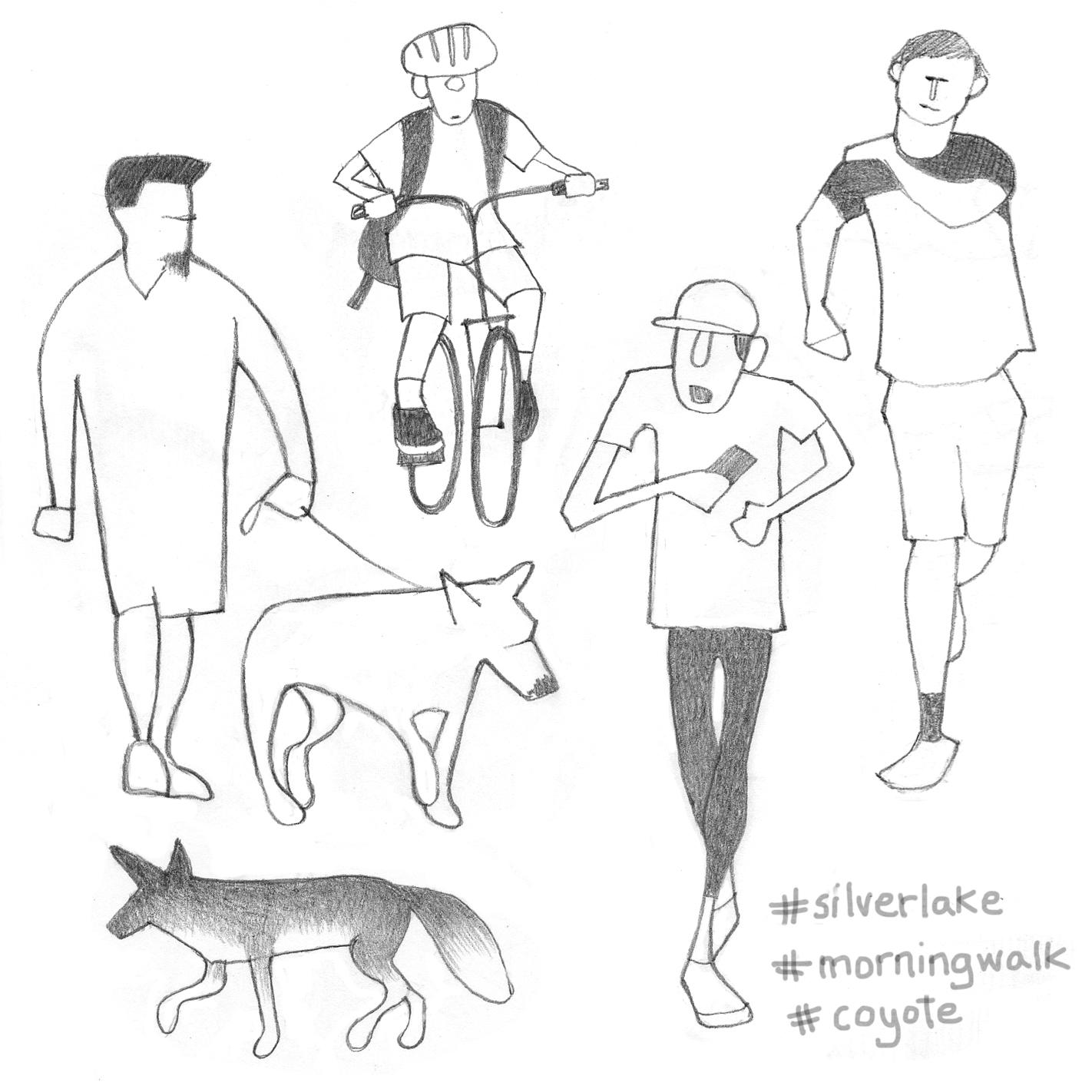Silver Lake walkers