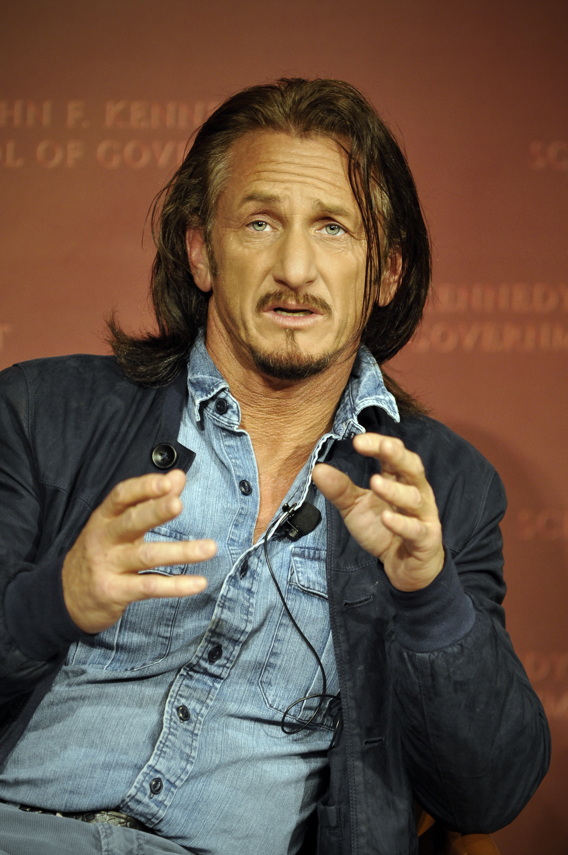 Sean Penn at Harvard