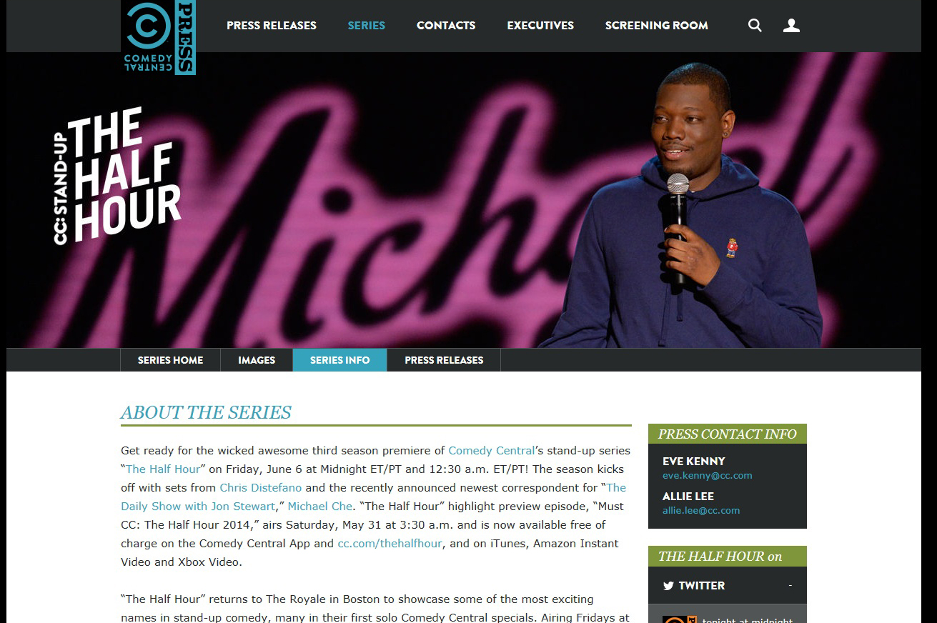 Comedy Central The Half Hour Show Michael Che
