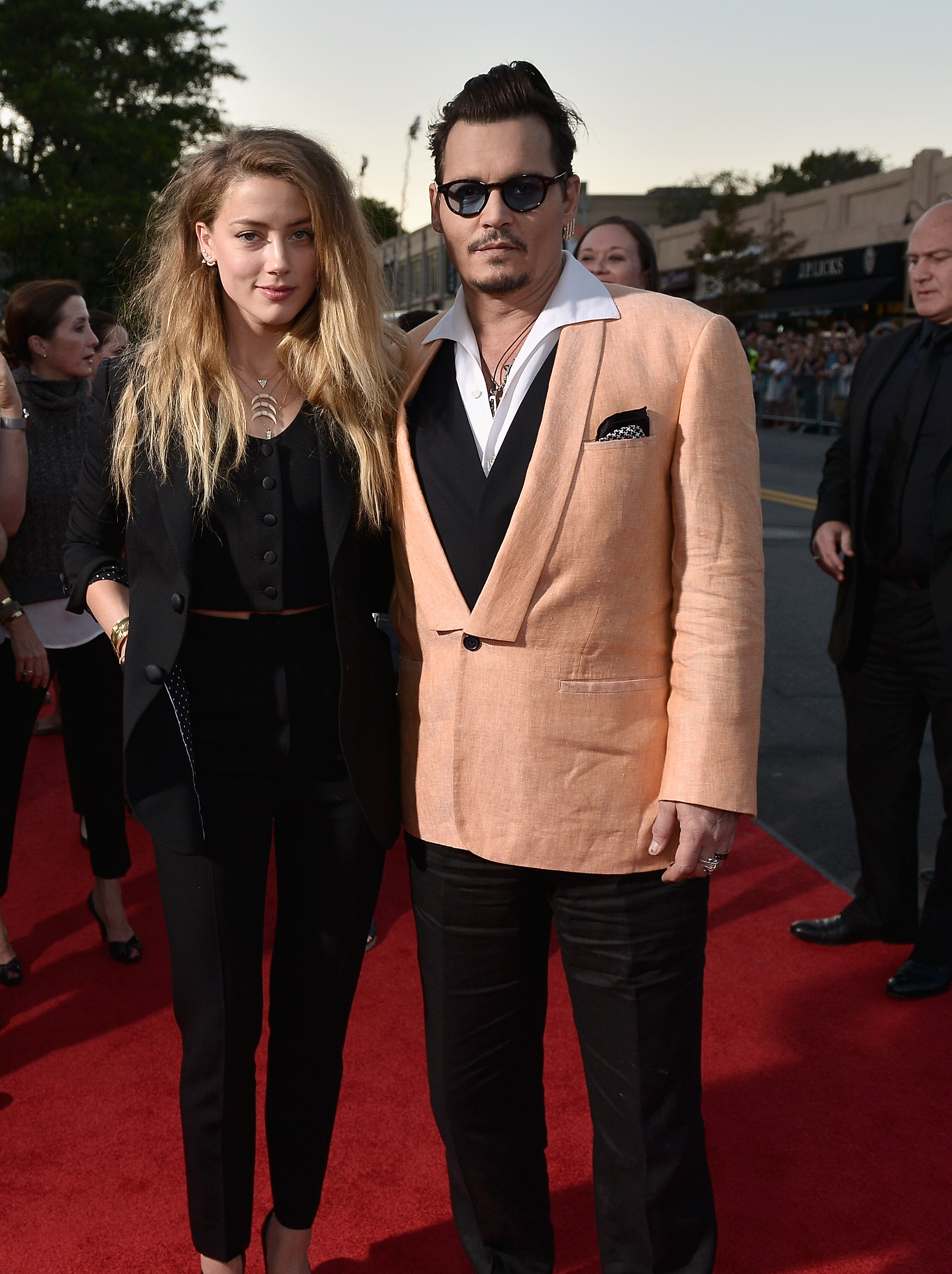 Johnny Depp and Amber Heard BLACK MASS Screening