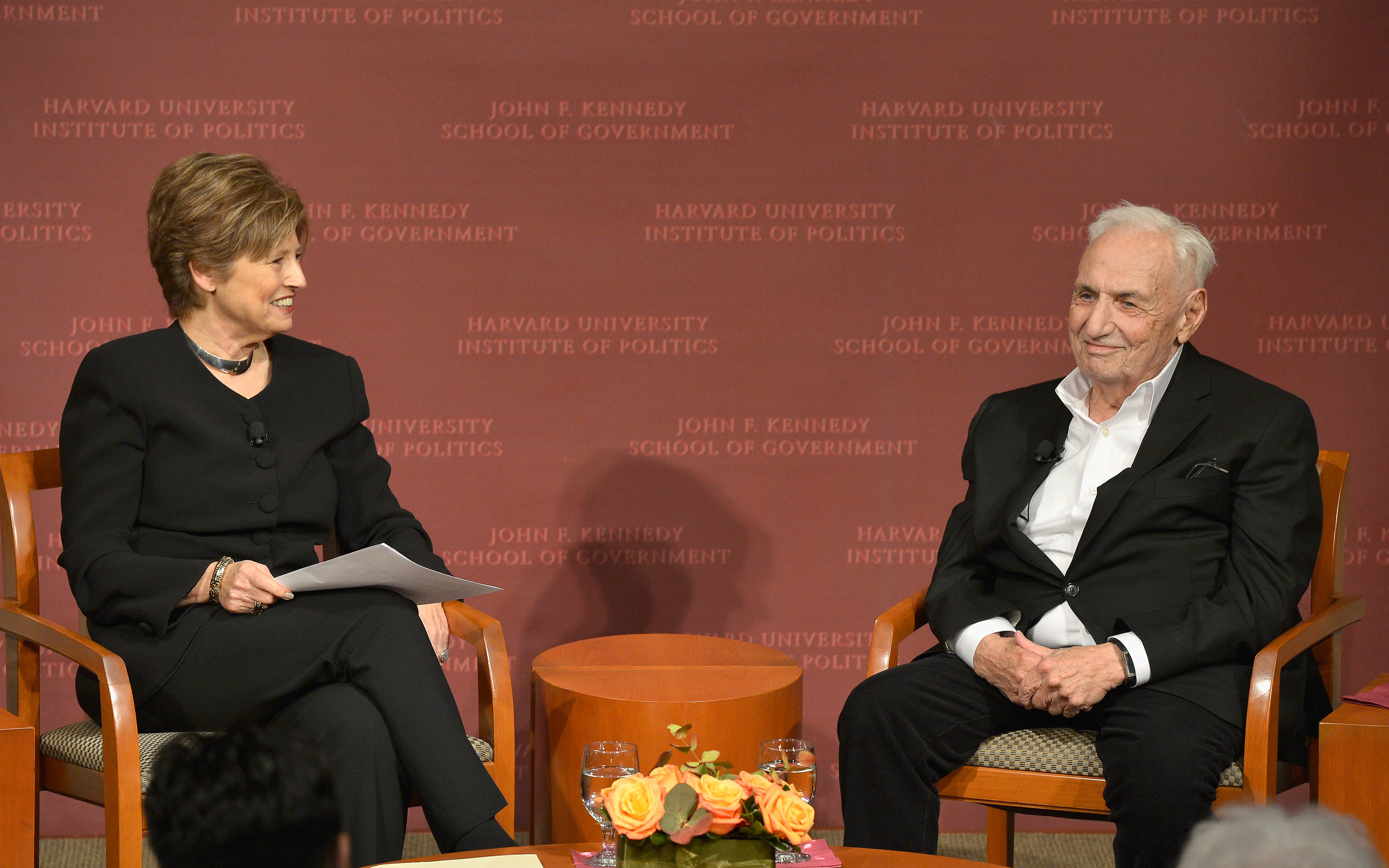 Deborah Borda and Frank Gehry