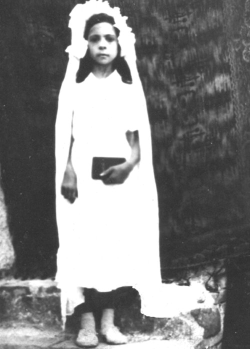 Maria Alba on Communion Day in the mid 1910s