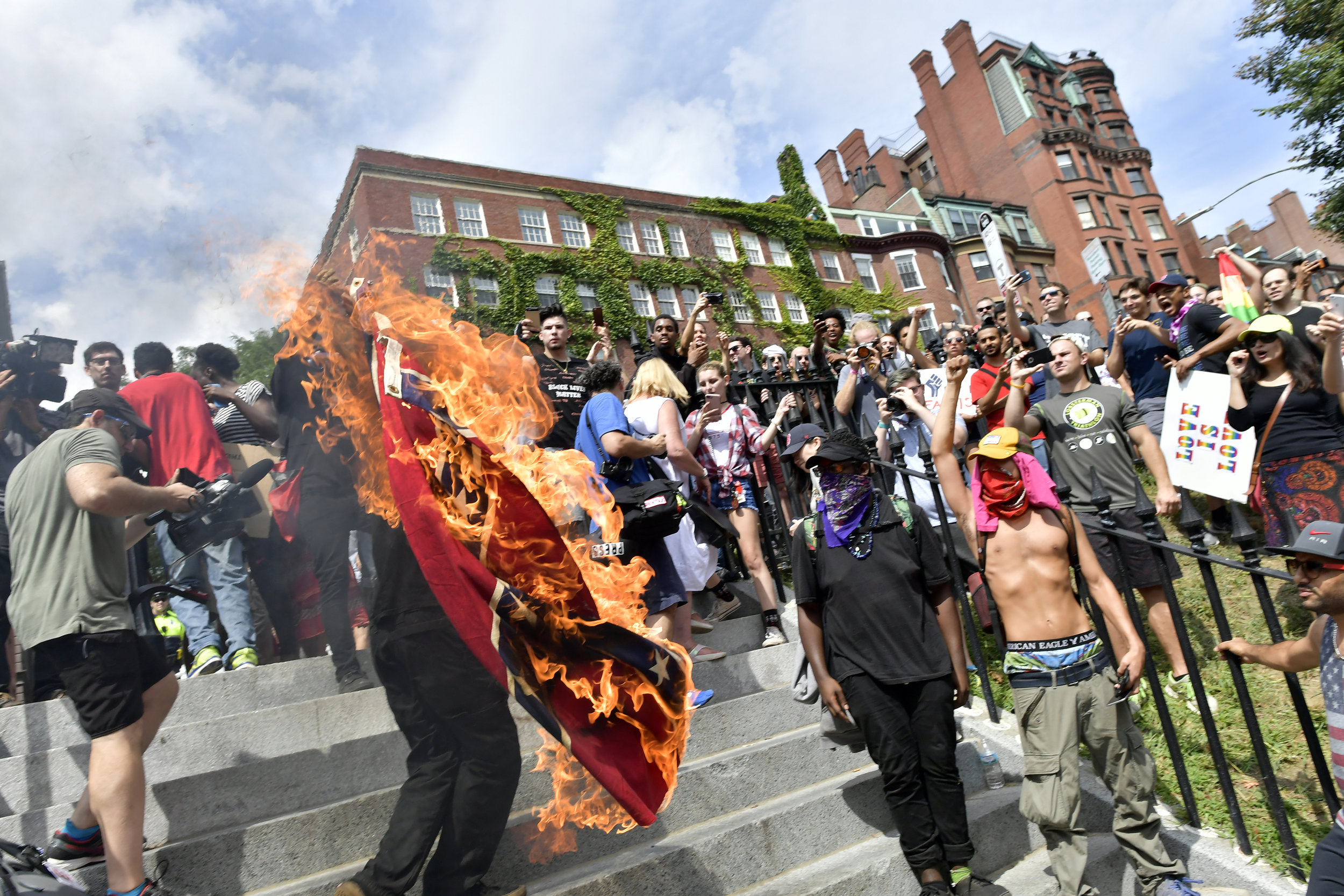 BOSTON, MA Saturday, August 19, 2017 -- Tens of thousands of demonstrators turned out to protest the Boston Free Speech Rally on Boston Common.