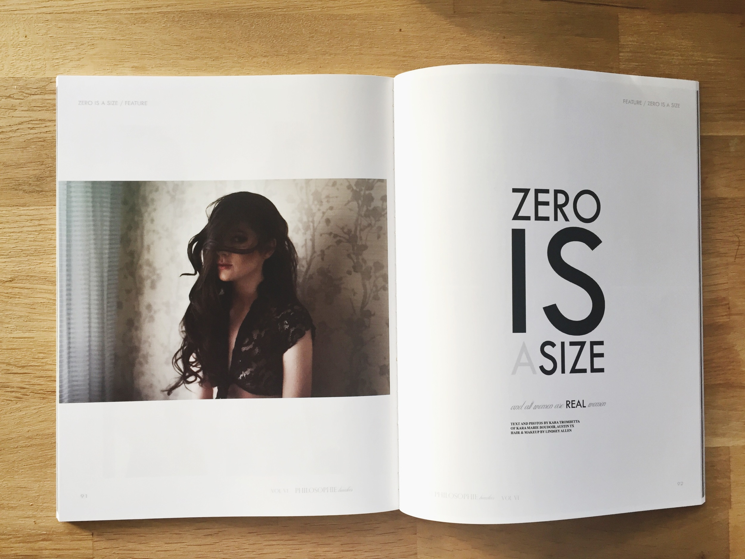 Zero Is A Size | Kara Marie Boudoir for PHILOSOPHIE Magazine