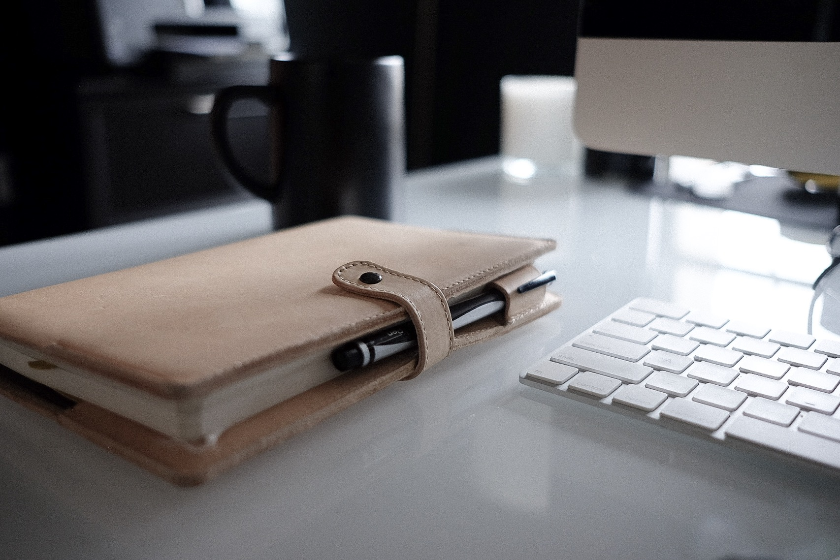 Pictured: BestSELF journal with Self Shield in Natural Leather