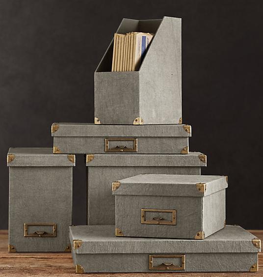 Restoration Hardware - Linen office accessories