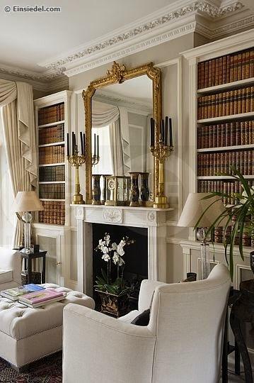 Not a fan of art? Use a ornate mirror instead!