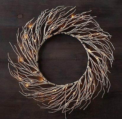 Winter Wonderland Birch Wreath - Restoration Hardware
