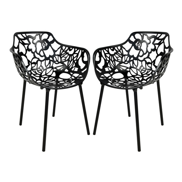 Devon Modern Black Aluminum Chair Buy it at overstock.com