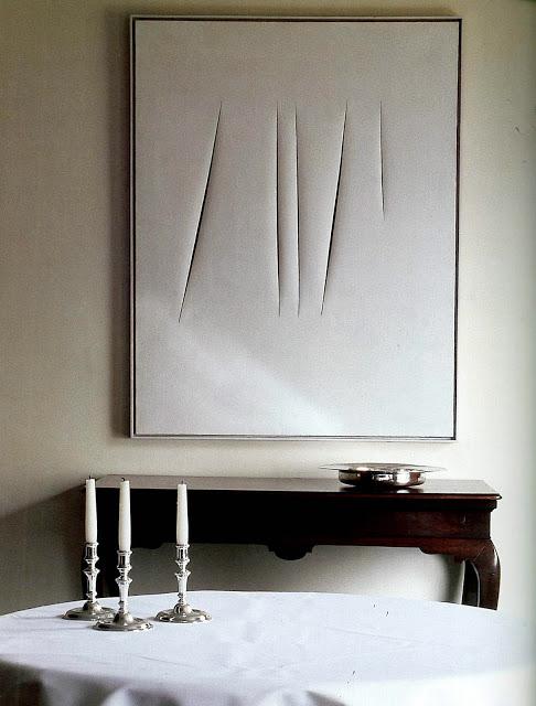 Artist Lucio Fontana
