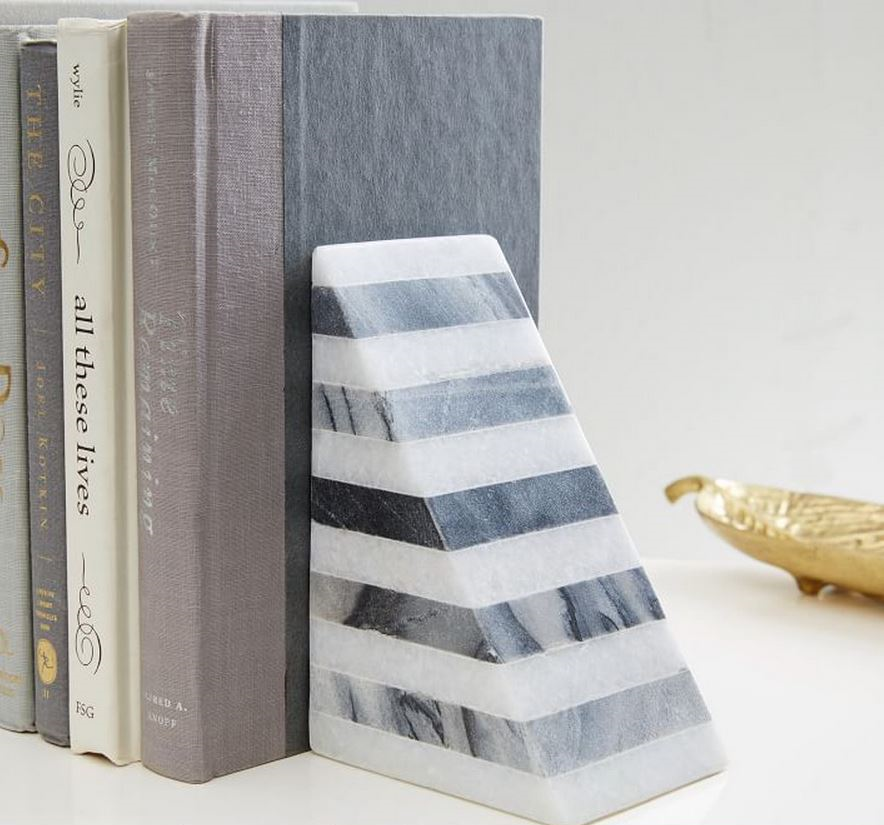 Striped Angle Geometry Bookend By West Elm  $39
