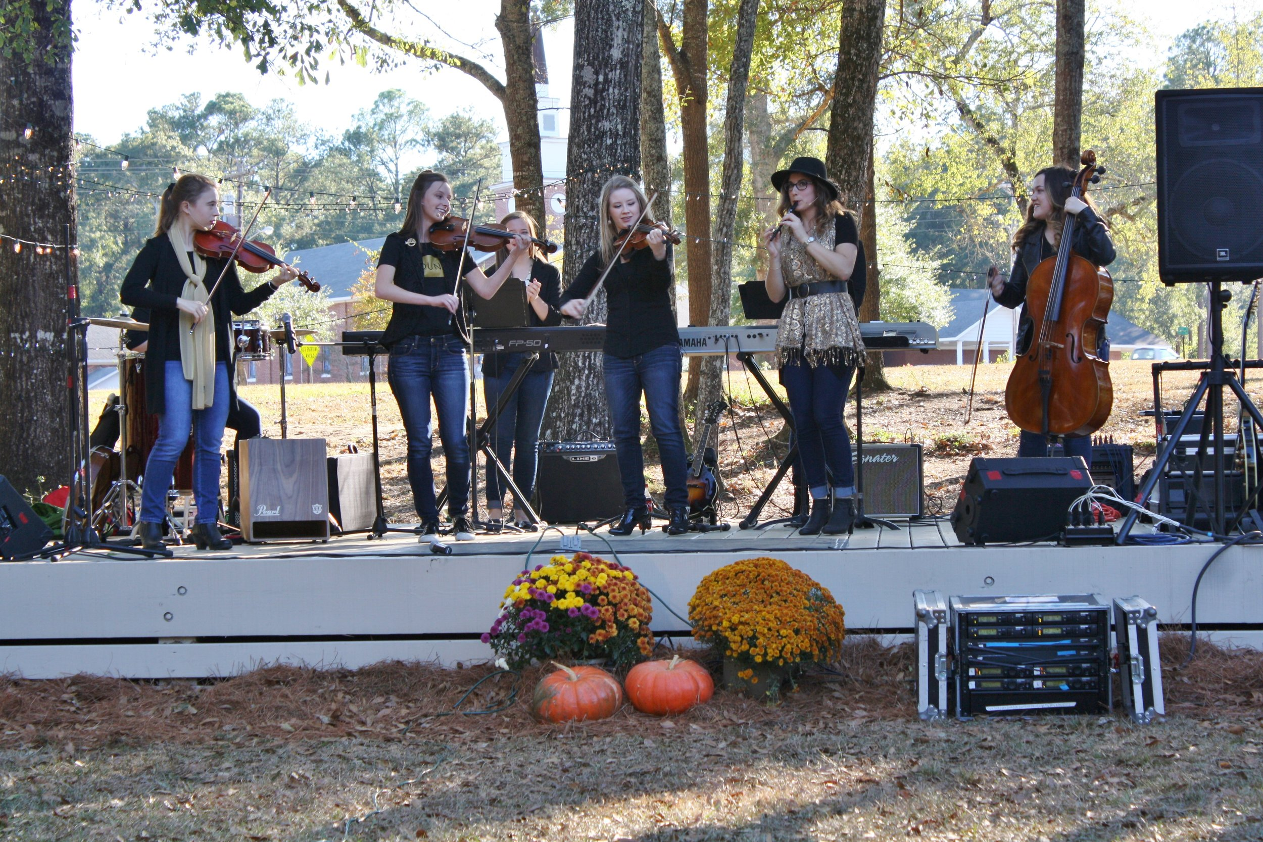 The University of Mobile's Welsh Revival performs during Family Fun & Moonlight Run.