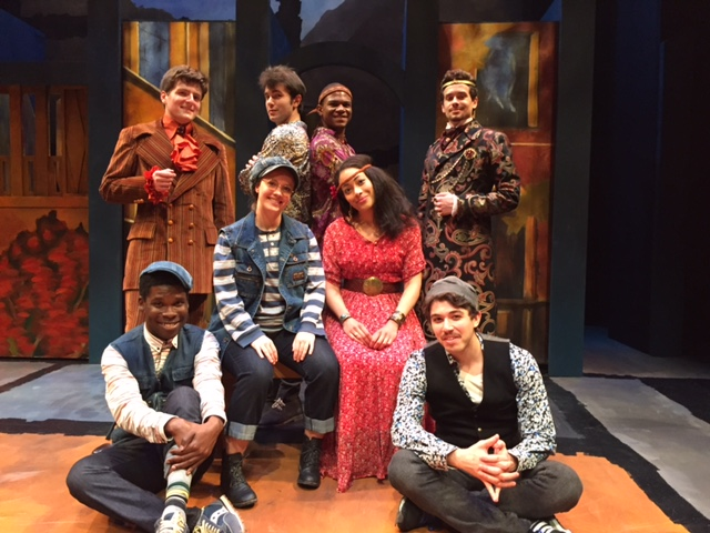 "The Alabama Shakespeare Festival's cast of ""The Two Gentlemen of Verona."""