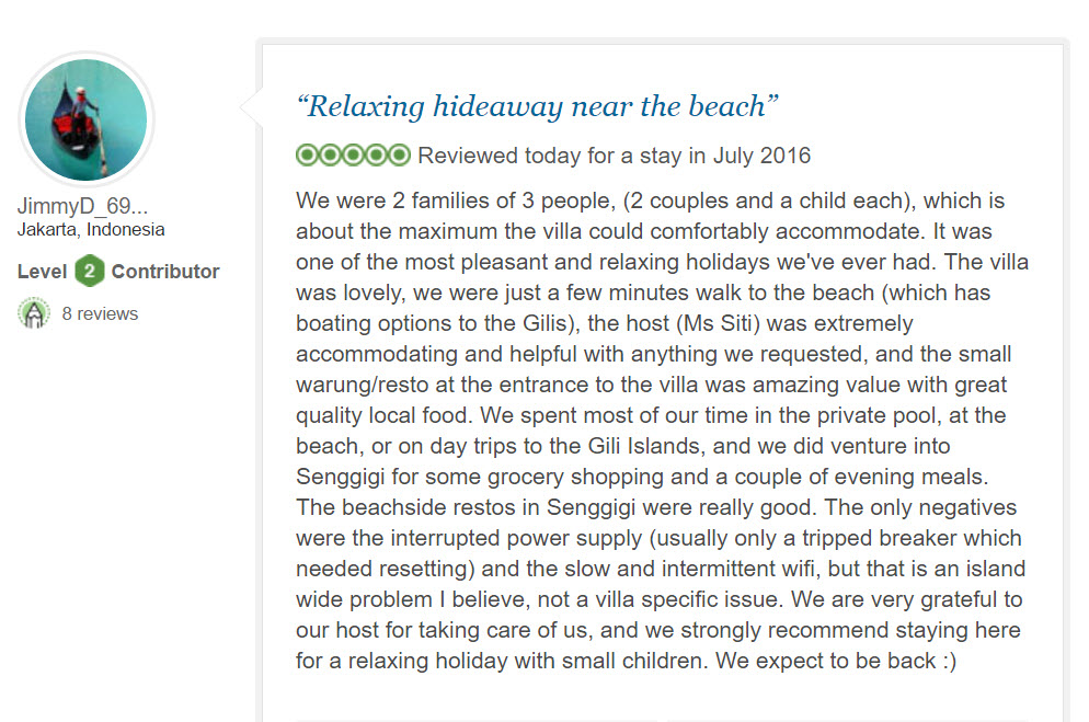 Review from Trip adviser