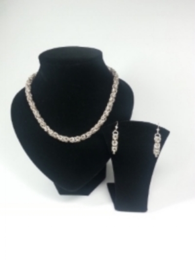 Chainmaille Necklace and Earrings