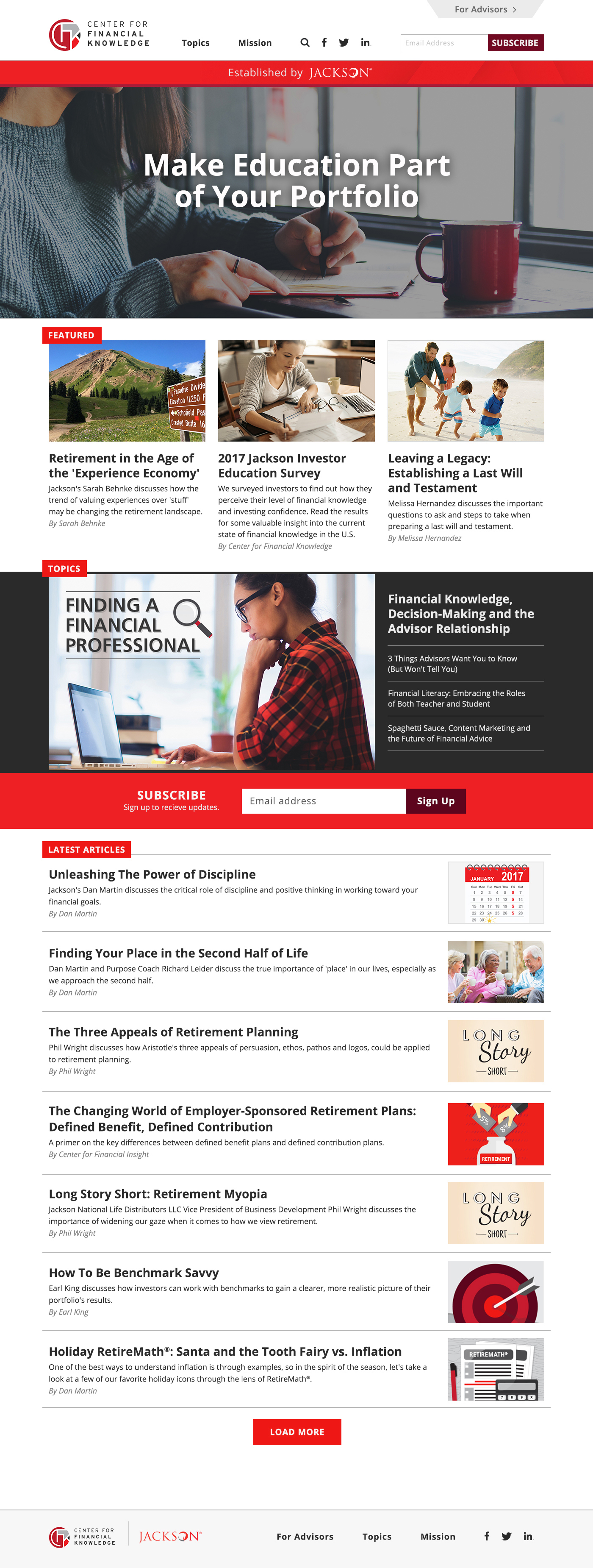 Homepage (expanded)