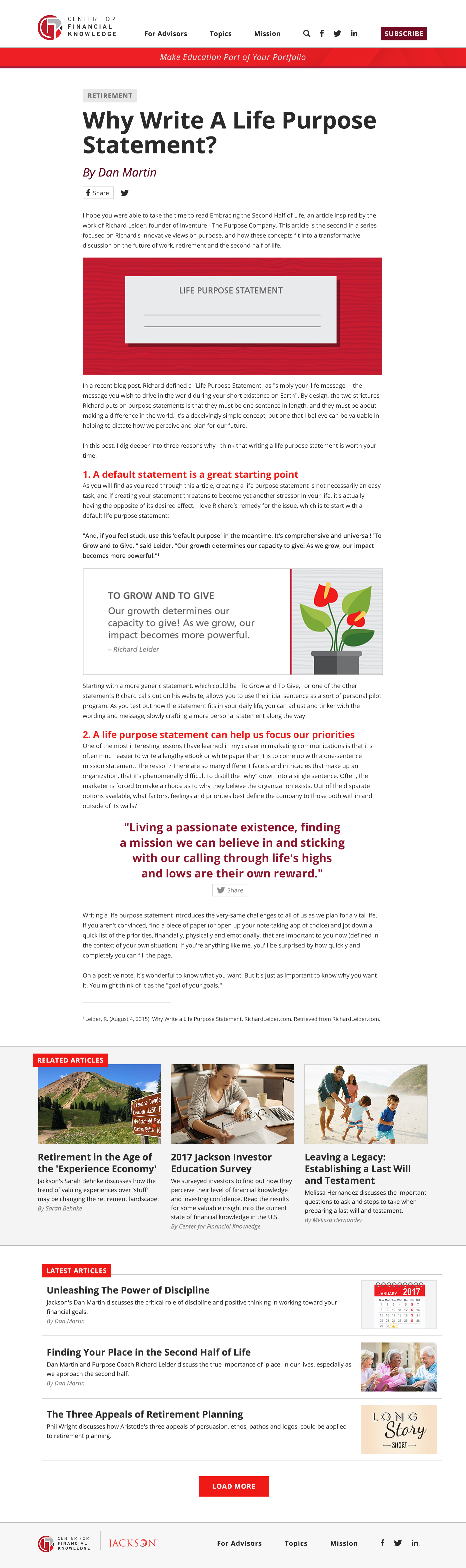 Article Layout (expanded)