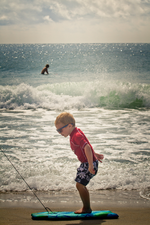 Family Photography - Surfer at the Beach