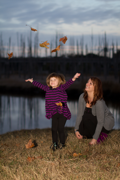 Family Photography - Fall Leaves