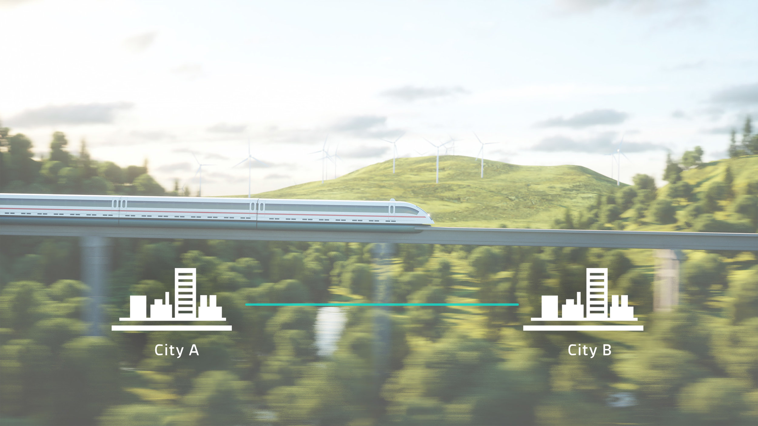 The modular system can be expanded to inter-city level, where cities are connected by maglev high speed trains that consist of a combination of passenger carriages as well as cargo carriages which share the same logistics system across the borders. This way the entire transportation system can be synchronized to increase efficiency, lower costs and conserve resources.