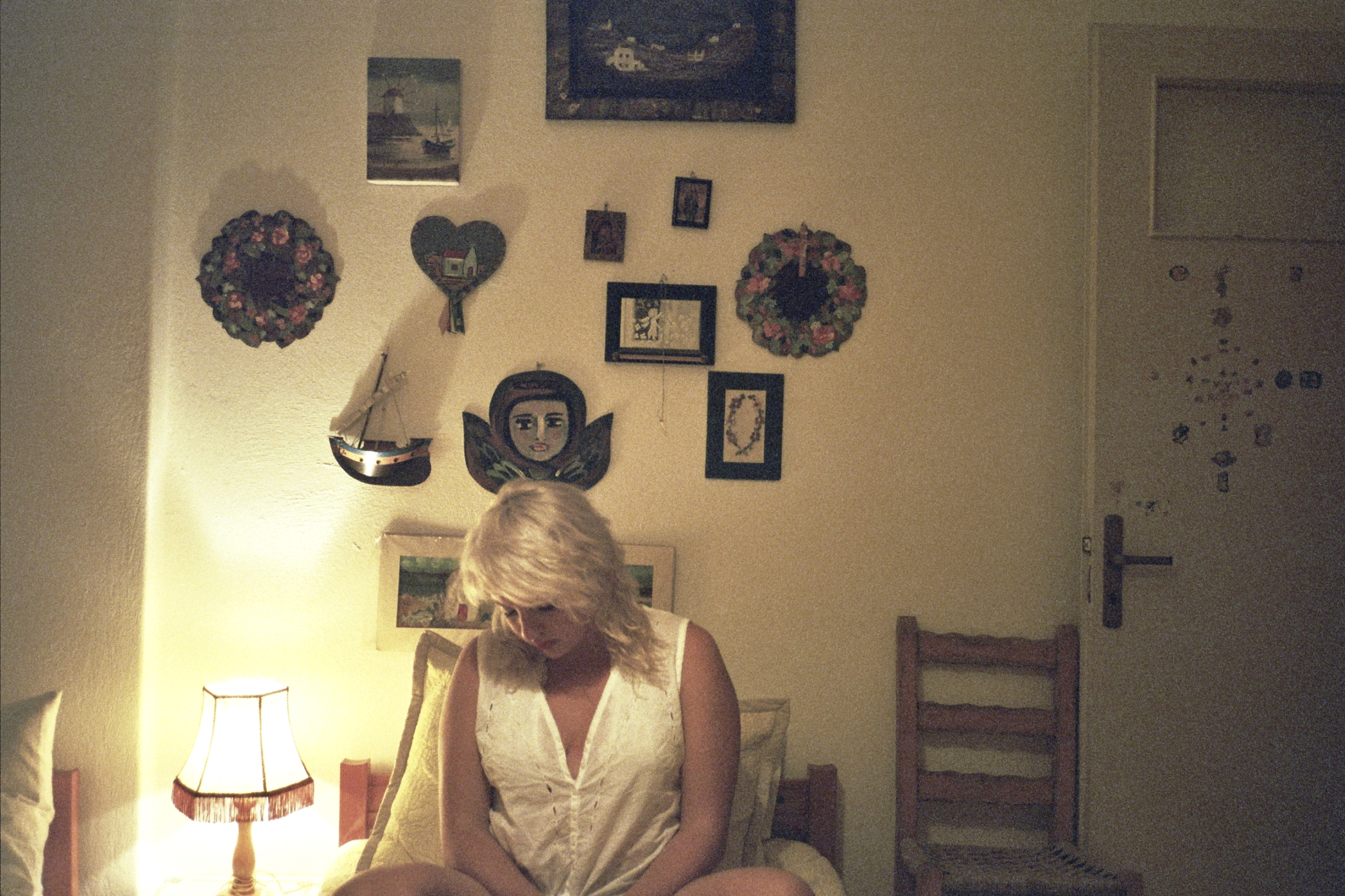 self-portrait in childhood bedroom, mykonos greece, september 2013