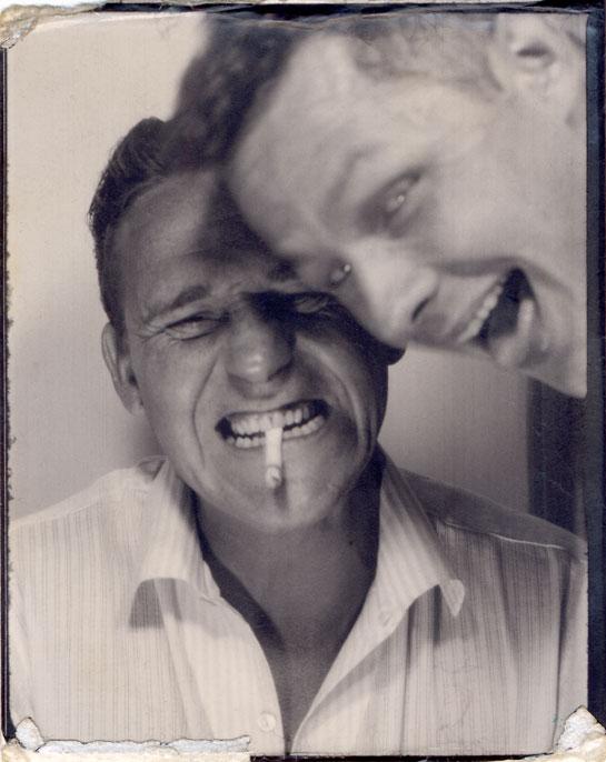 Two men having fun