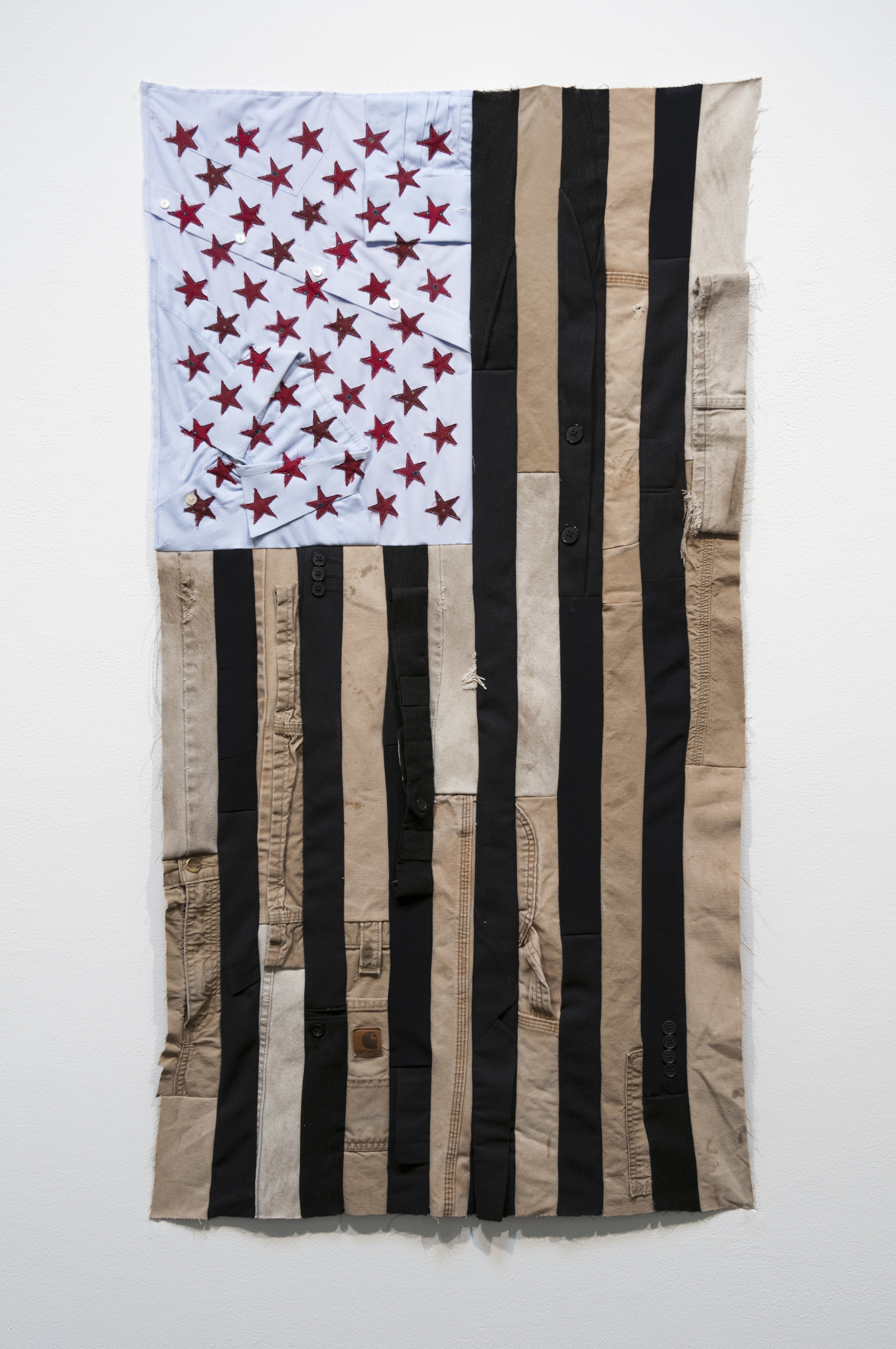 🔴 SOLD ///  Flag #2  • 45 X 24 • Carpenter's Pants, Suits, Collared Shirts, Neckties