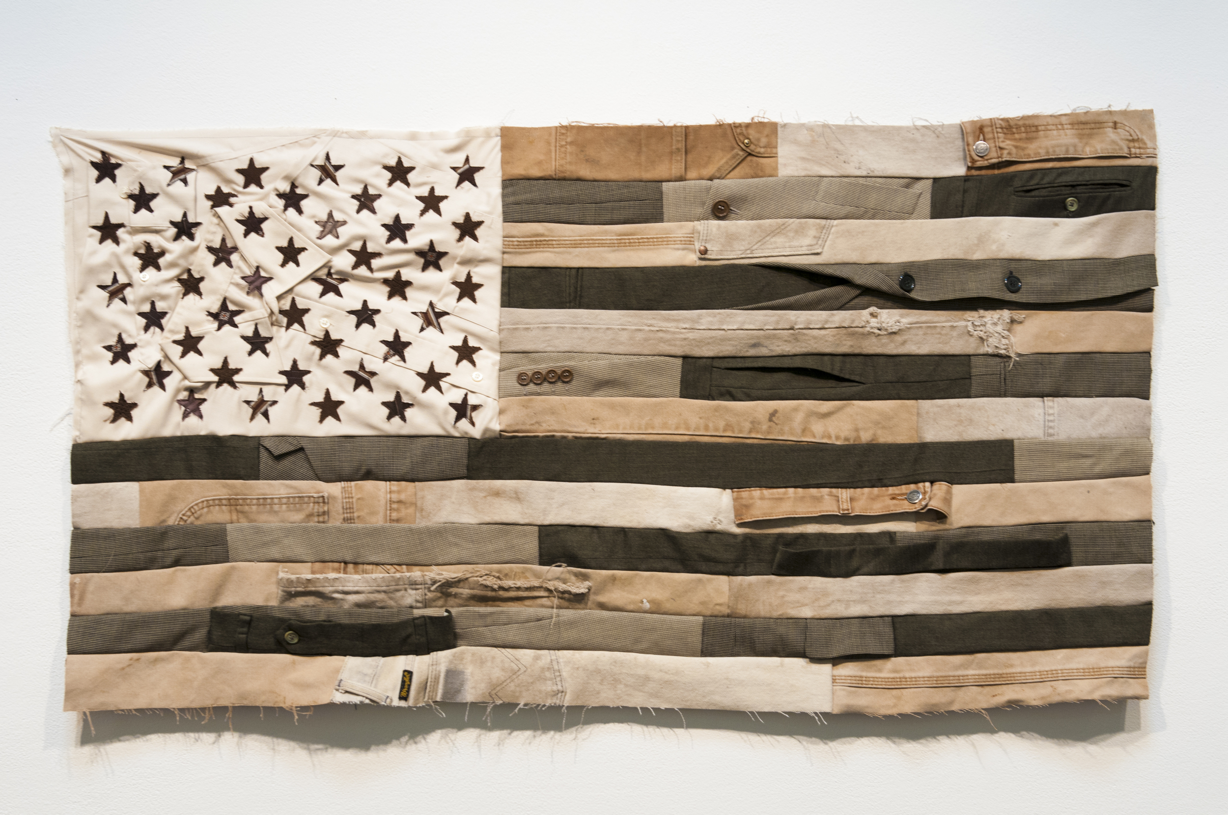 🔴 SOLD ///  Flag #3  • 24 X 45 • Carpenter's Pants, Suits, Collared Shirts, Neckties