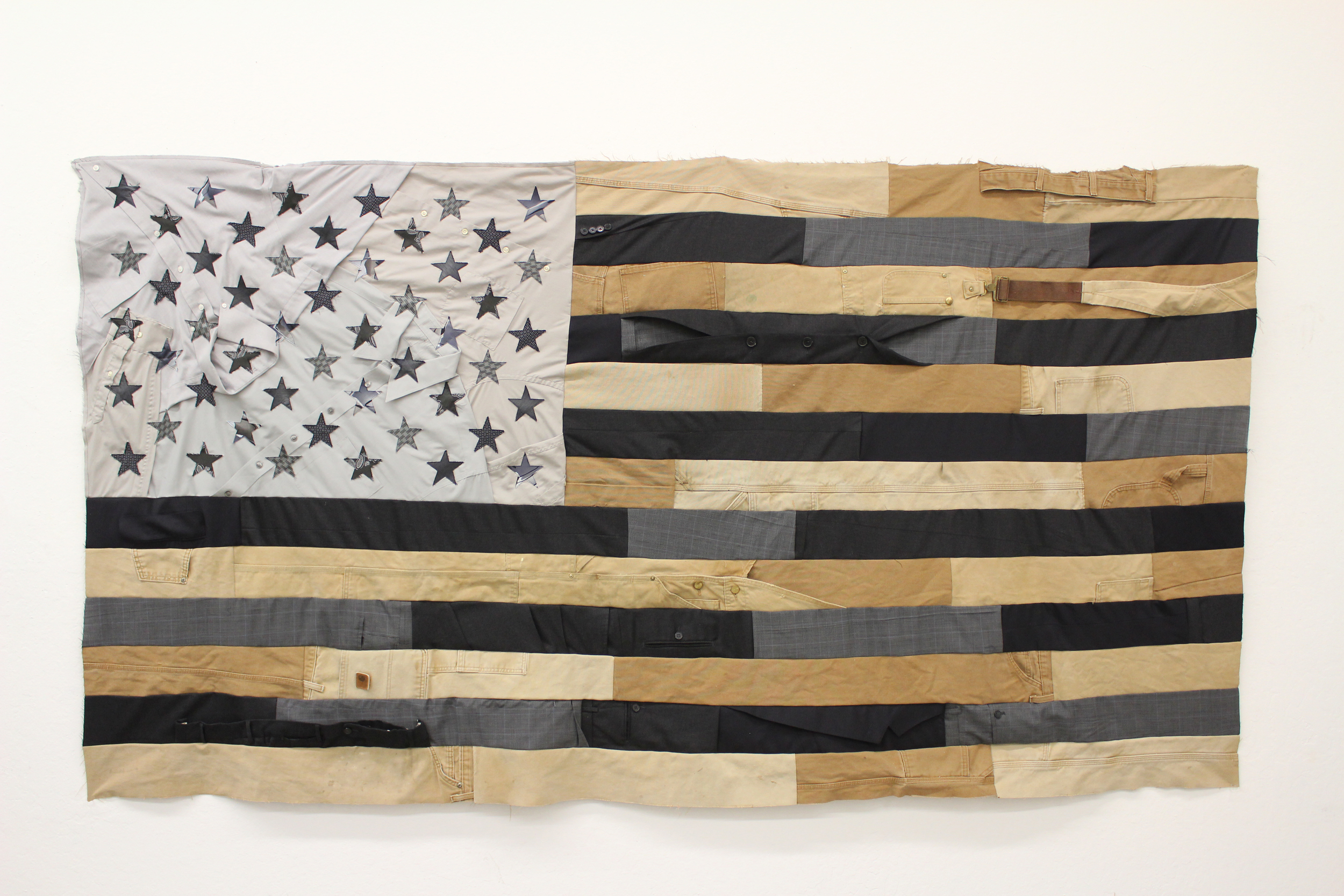🔴 SOLD ///  Flag #7  • 46 X 91 • Carpenter's Pants, Suits, Collared Shirts, Neckties
