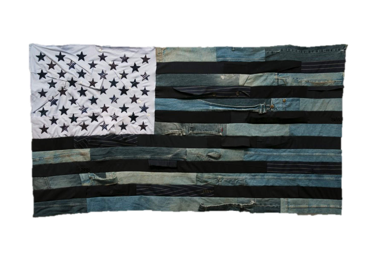 Flag #4  • 36 X 68 • Carpenter's Pants, Suits, Collared Shirts, Neckties