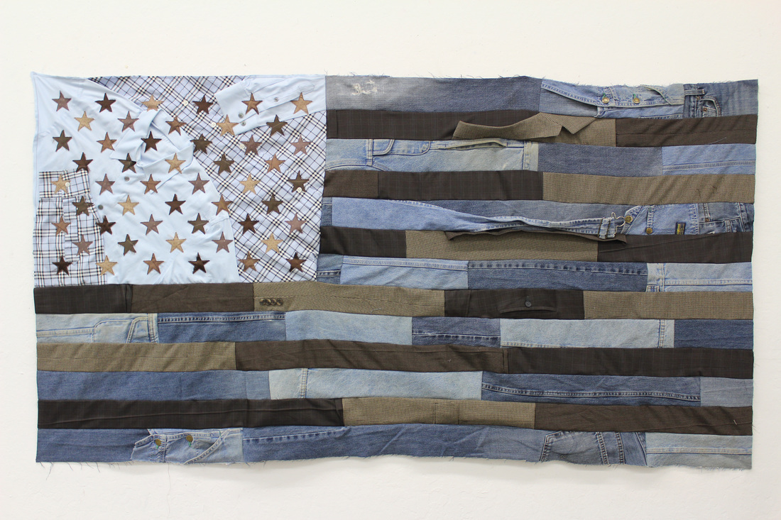 🔴 SOLD ///  Flag #8  • 36 X 68 • Carpenter's Pants, Suits, Collared Shirts, Neckties