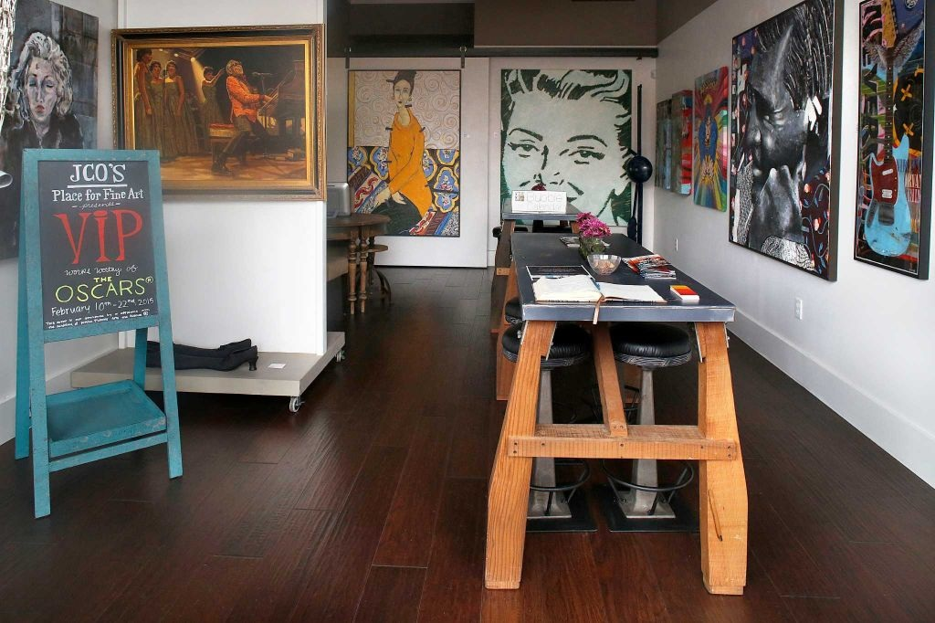 The gallery space at JCO'S Place for Fine Art in Los Gatos.