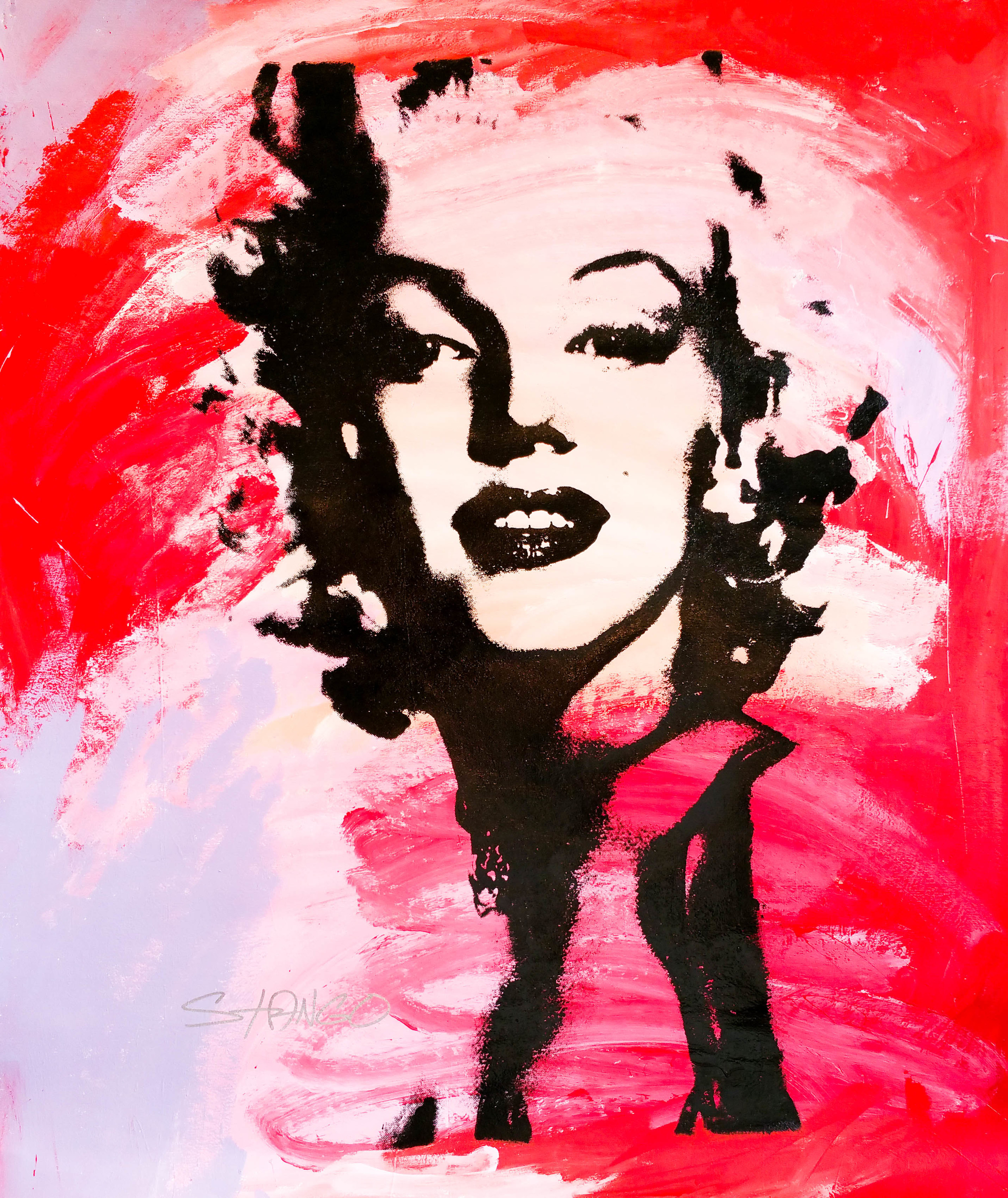 Marilyn Monroe [Cotton Candy Dream] • 48 X 40 • Acrylic on Canvas