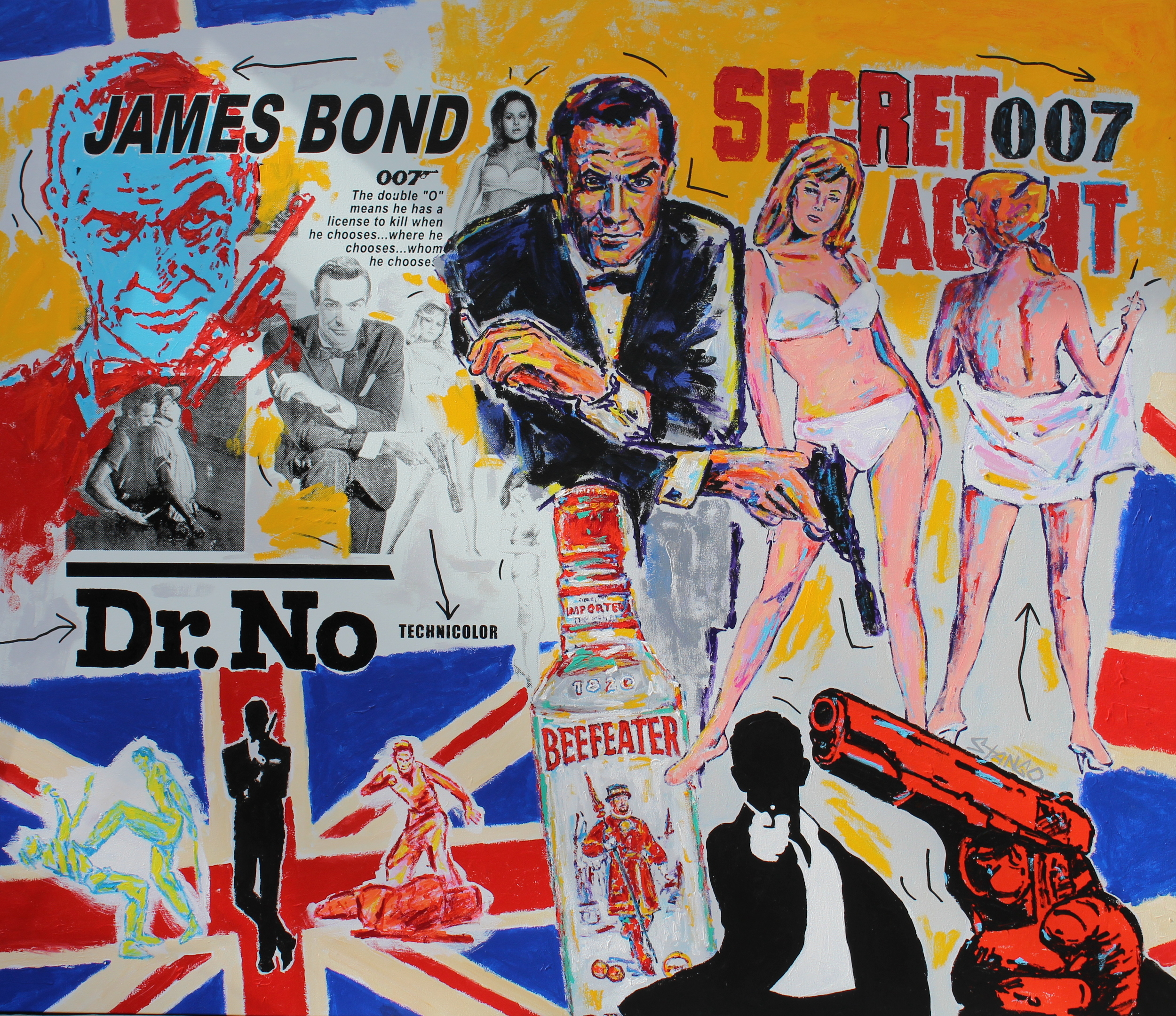 James Bond • 70 X 80 • Acrylic on Canvas