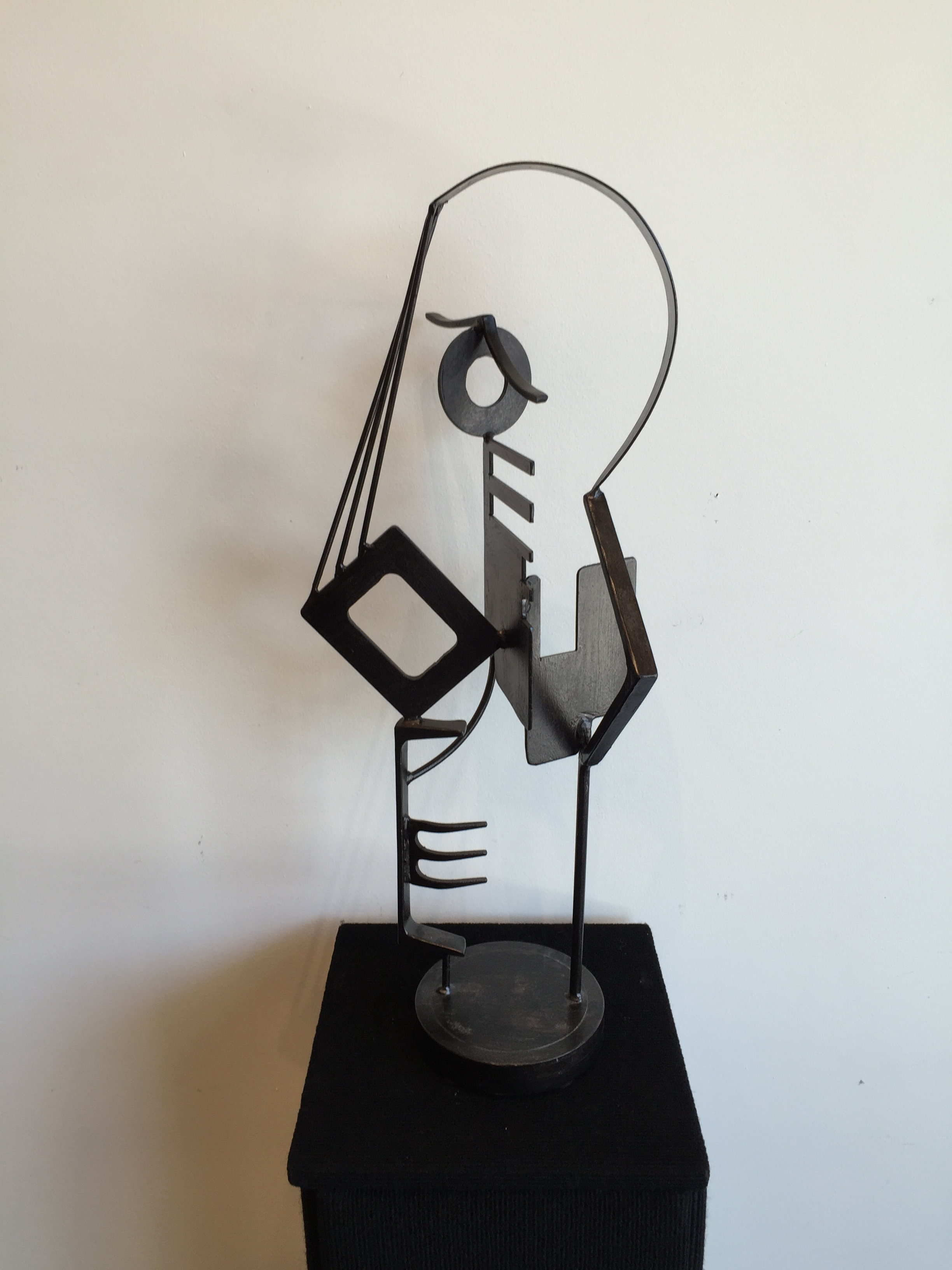 JEFF OWEN //  Head of a Woman  • 27 X 12 X 9 • Painted Steel • WAS $1,080 / NOW $900