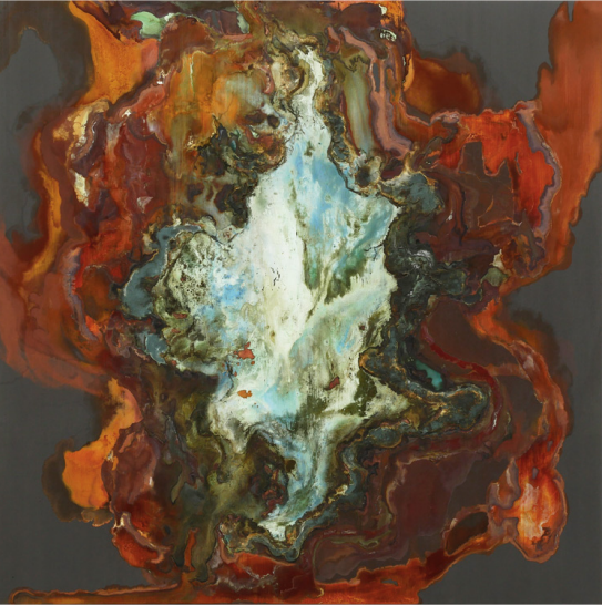 Biolith •  48 X 48 • mineral on panel