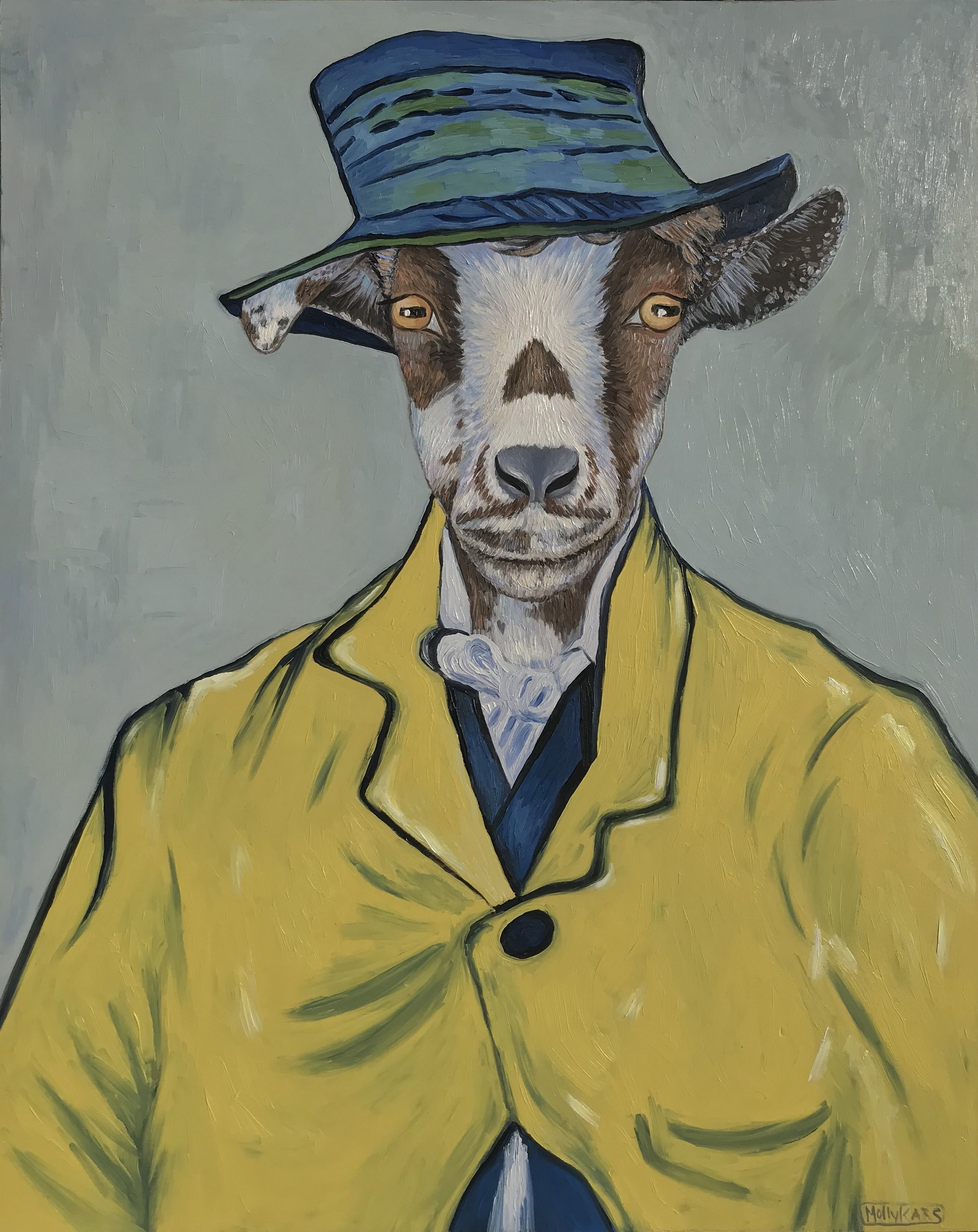 SOLD /// Van Goat: The Postman's Son •  20 X 16 • oil on panel