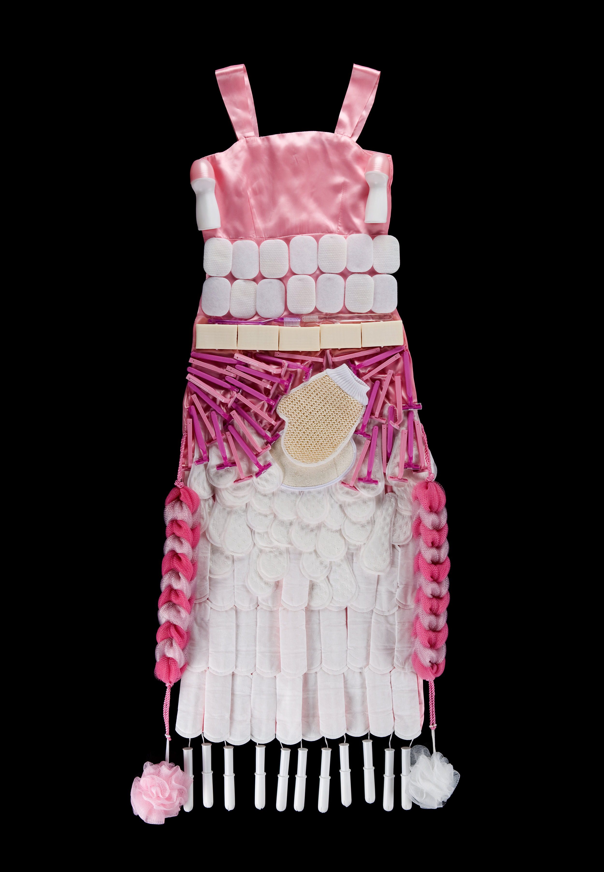 Women Must Be Clean (La Mujer Tiene que Ser Limpia)  • 58 X 22 • dress, hygiene products