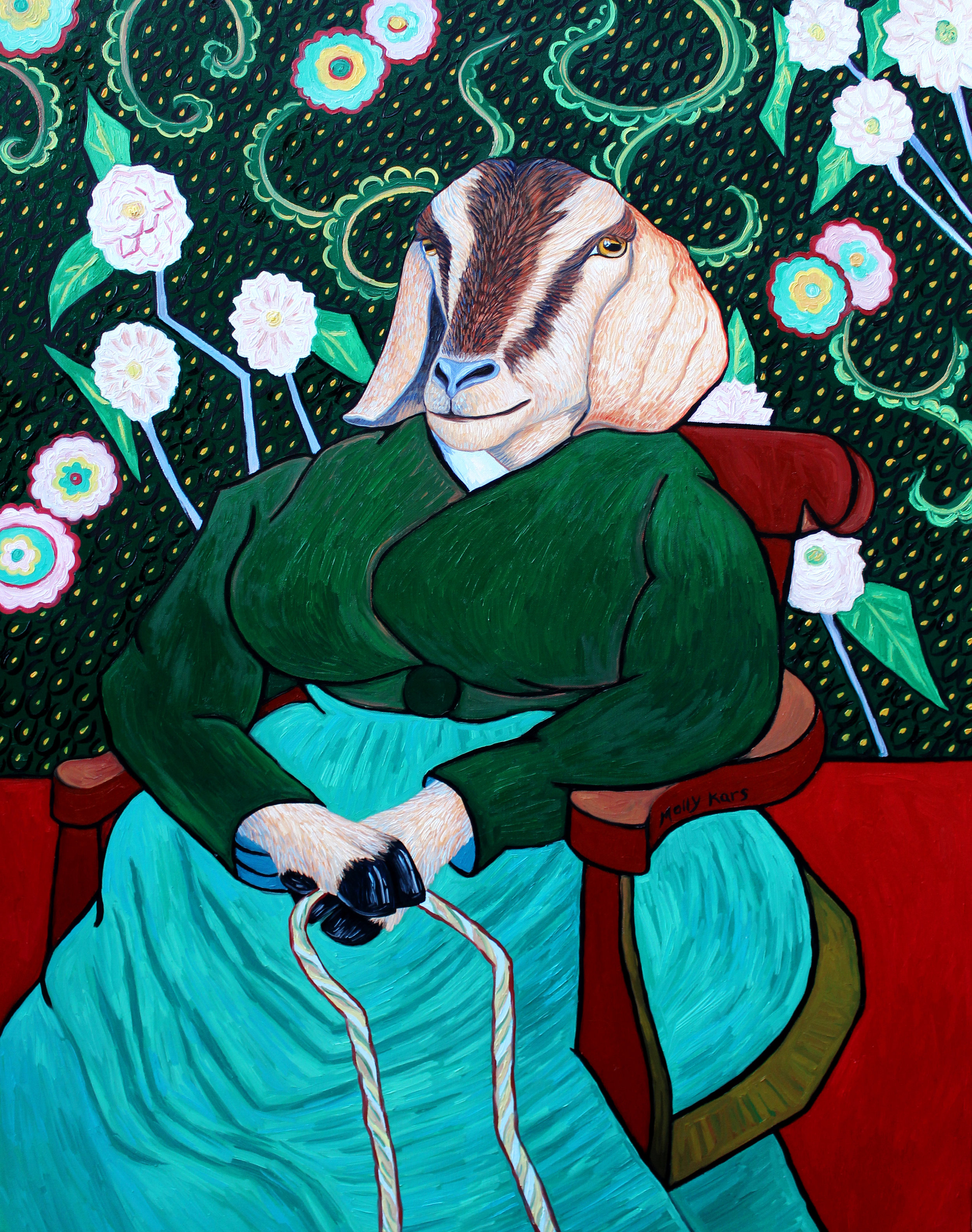 SOLD /// Madame Roulin Rocking the Cradle: La Bercuse • 40 x 30 • oil on canvas • $3,000