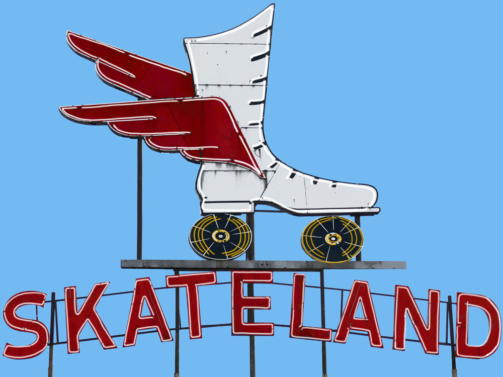 🔴 SOLD (prints available) ///  Skateland  • 15 X 20 • limited edition print on canvas, resin •  $450