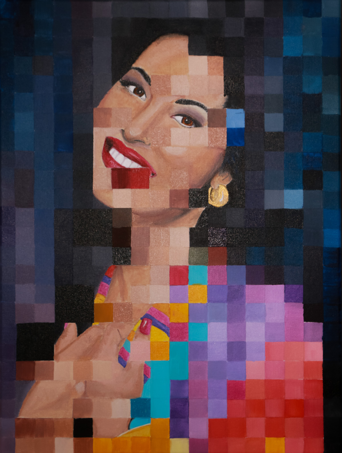 SELENA  • 24 X 18 • ACRYLIC ON CANVAS •  $895