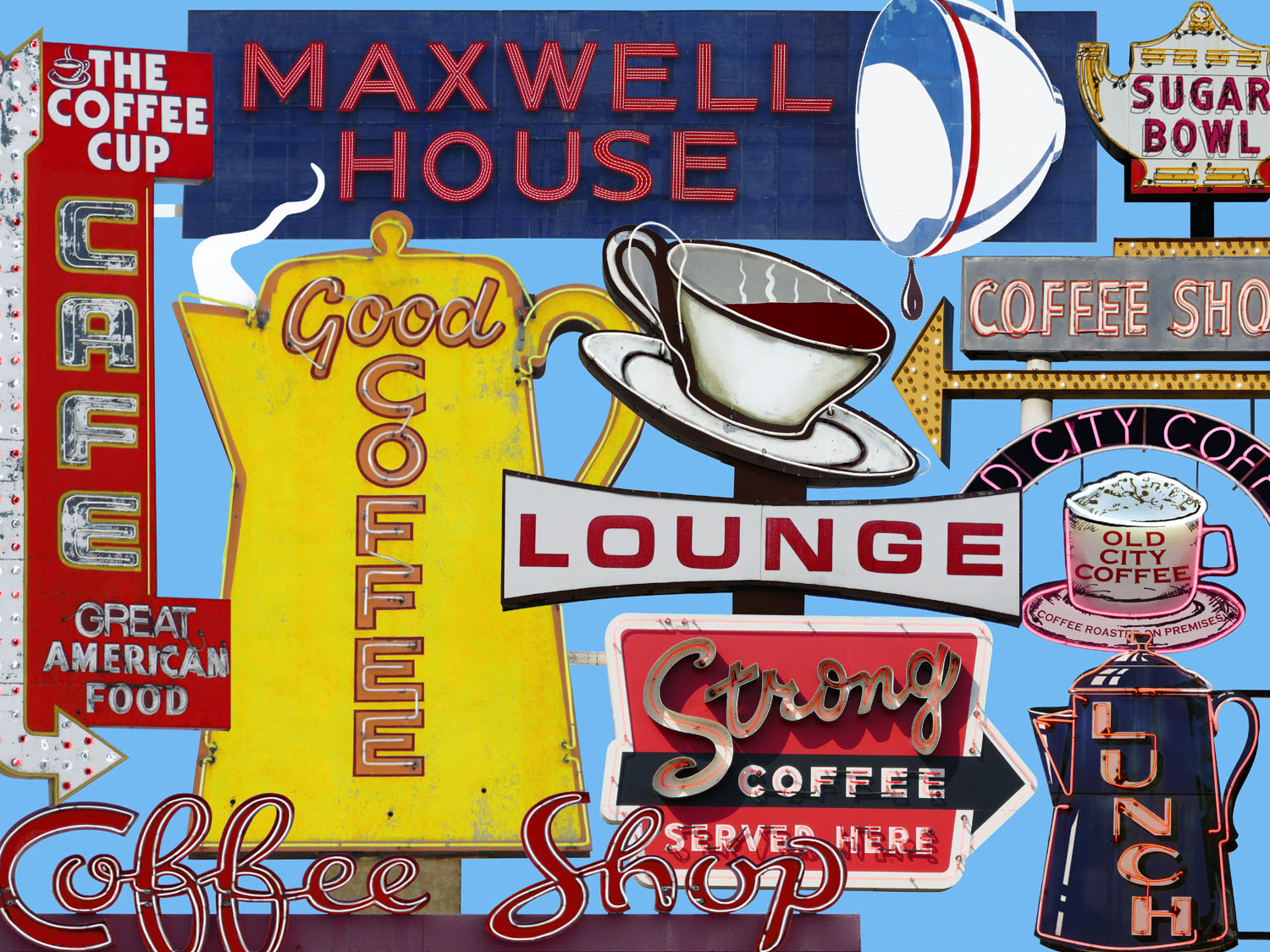 Coffee Time  • 18 X 24 • limited edition print on canvas, resin •  $575