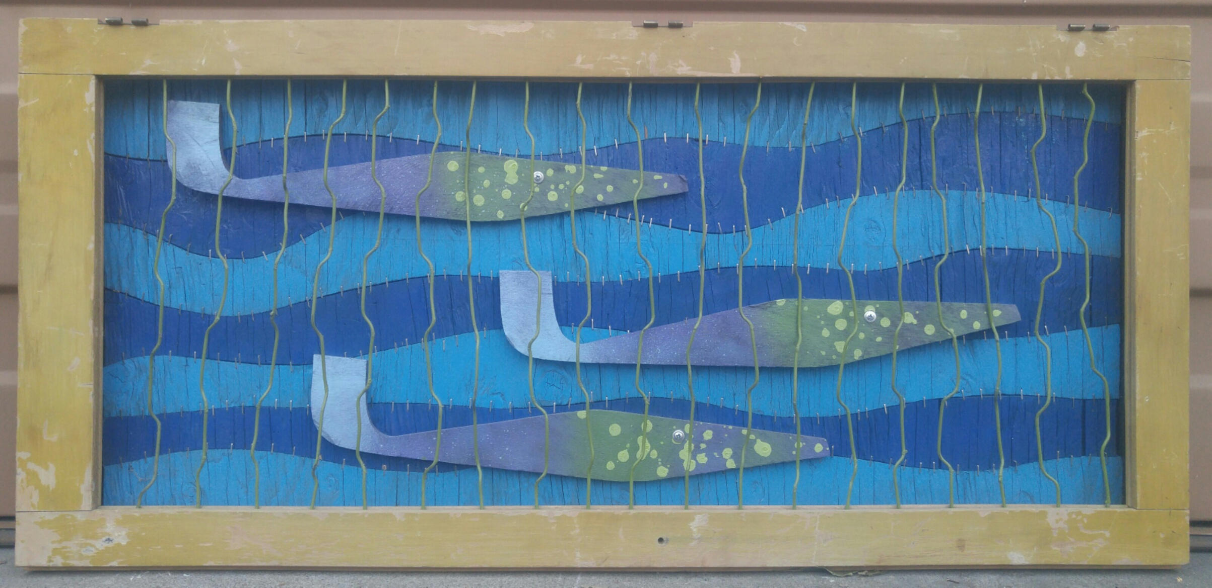 Under the Sea I  16 X 39 • reclaimed wood, wire  $395