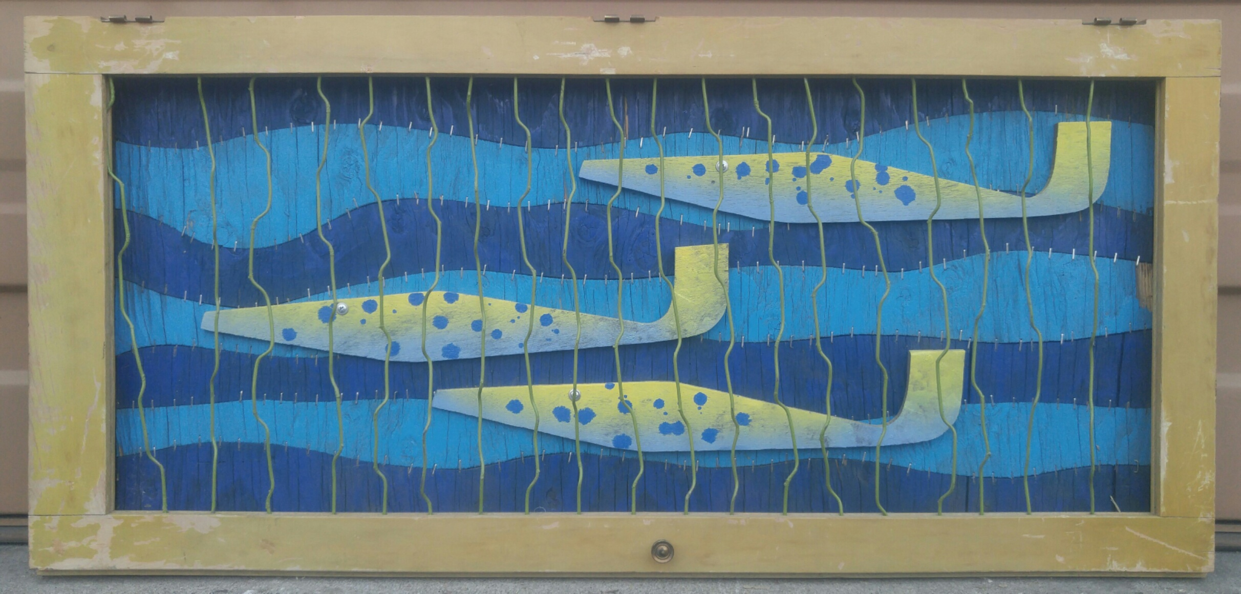 Under the Sea II  16 X 39 • reclaimed wood, wire  $395