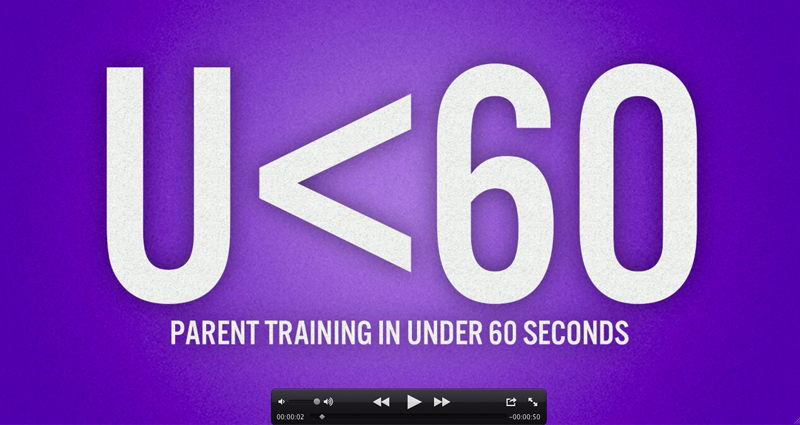 Click on the image above to access a video training library just for parents. Every video is under 60 seconds.