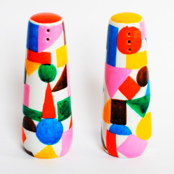 Salt and Pepper Shakers by Colourbox Boutique, a British company specializing in porcelains and prints.